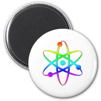 atom rainbow 6 cm round magnet