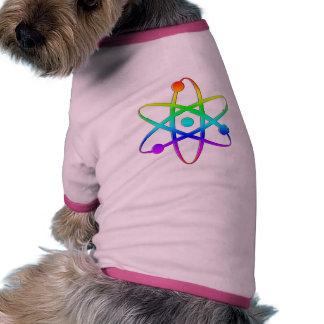 atom rainbow doggie t-shirt