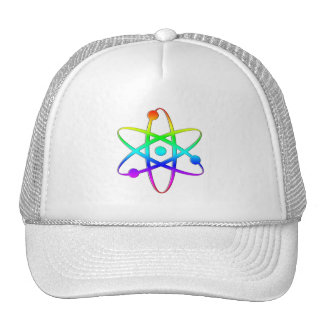 atom rainbow mesh hats
