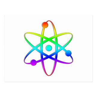 atom rainbow post card
