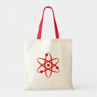 atom red canvas bag