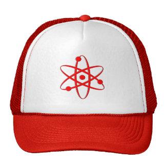 atom red trucker hat