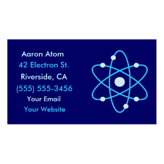 Atom Science Business Cards