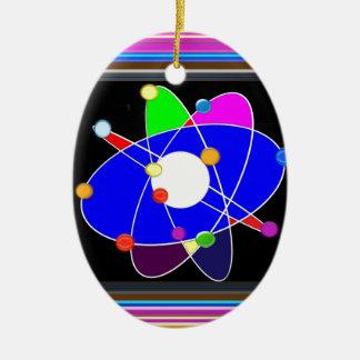 ATOM science explore study research NVN632 SCHOOL Ceramic Oval Decoration