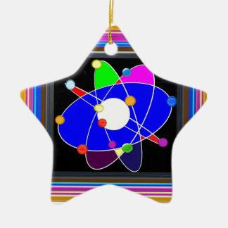 ATOM science explore study research SCHOOL Ceramic Star Decoration