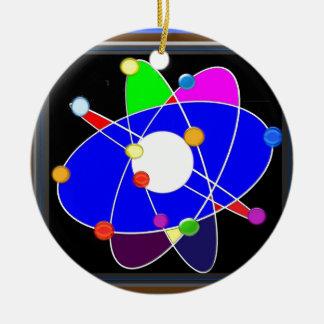 ATOM science explore study research SCHOOL Round Ceramic Decoration