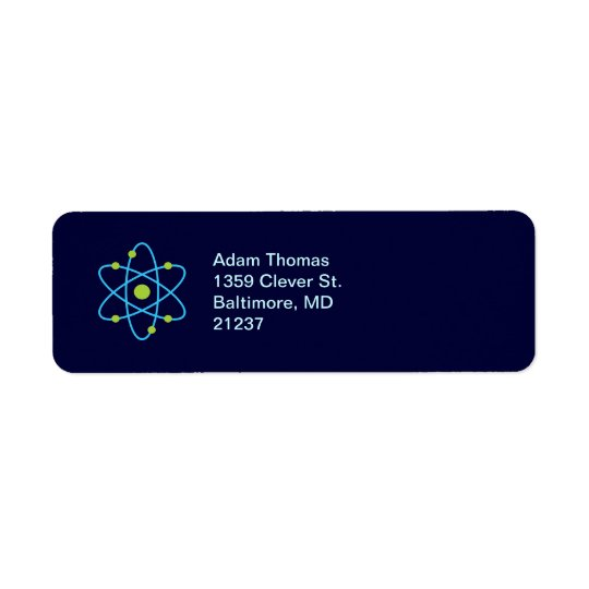 Atom Science Return Address Label