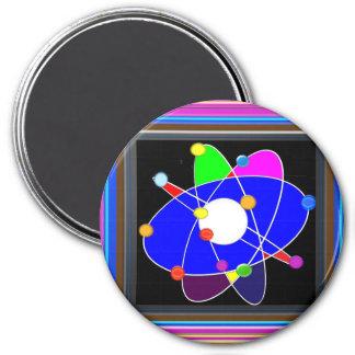 Atom Science School Research Development NVN658 RN 7.5 Cm Round Magnet