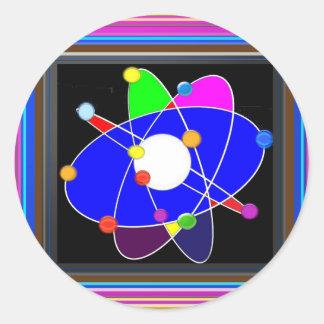 Atom Science School Research Development NVN658 RN Round Sticker