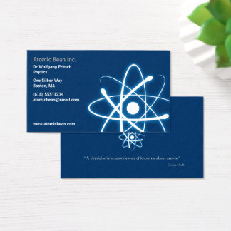 Atom | Scientist Blue Business Card