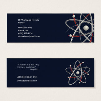Atom - Scientist Mini Business Card