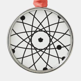 Atom Silver-Colored Round Decoration