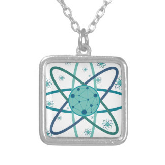 Atom Silver Plated Necklace