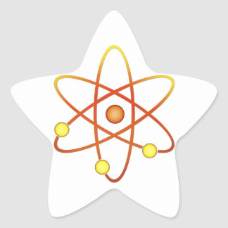 Atom Star Sticker