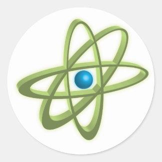 Atom Round Stickers
