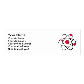 Atom symbol business card template