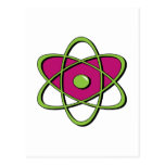 Atom Symbol Post Cards