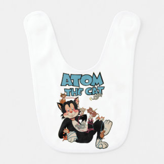 Atom the Cat cute furry feline superhero Baby Bibs