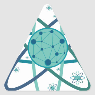 Atom Triangle Sticker