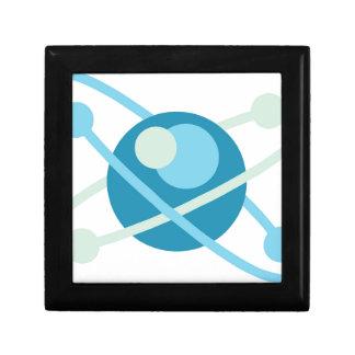 Atom vector logo small square gift box