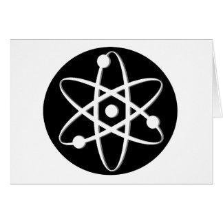 atom white greeting card