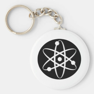 atom white key chains