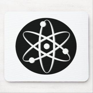 atom white mouse pad