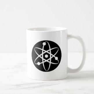atom white coffee mug