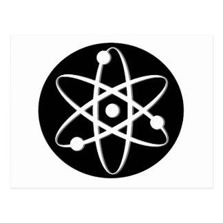 atom white postcard