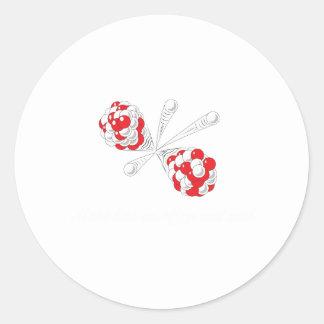 atom white round sticker