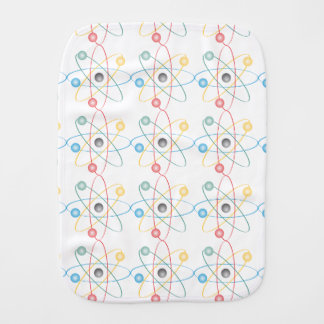 Atom With Colorful Electrons Baby Burp Cloth