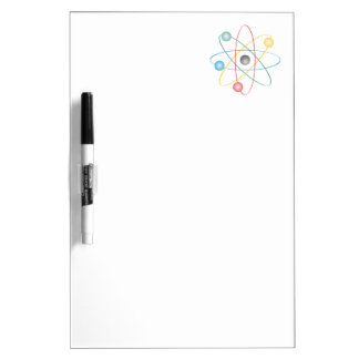 Atom With Colorful Electrons Dry Erase Whiteboard