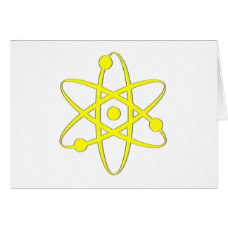 atom yellow greeting card