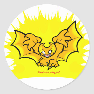 atombat atomised black outline Sticker