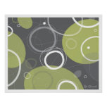 Atomic Age Abstract in Olive Poster