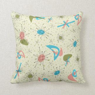 Atomic Age Retro Pillow