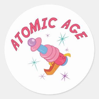 Atomic Age Round Sticker