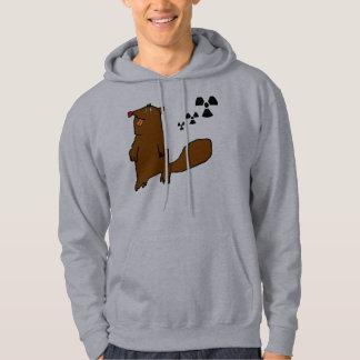 Atomic Beaver Black Danger Hoodie