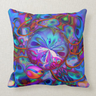 Atomic Bedbug Throw Pillow