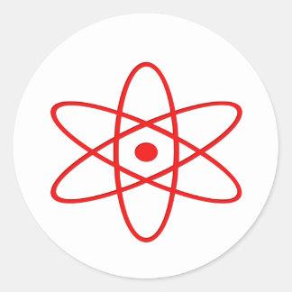 Atomic Blast Round Sticker