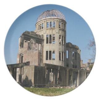 Atomic Bomb Dome, Hiroshima, Japan Plate