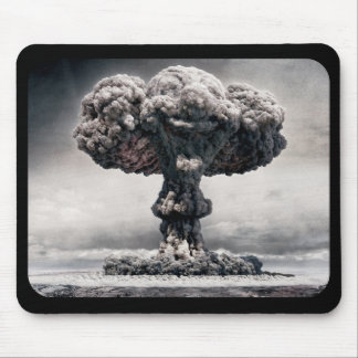 atomic bomb explosion mouse pad