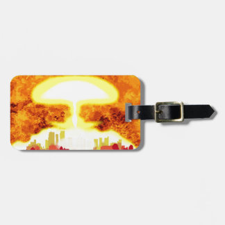 Atomic Bomb Heat Background Bag Tag