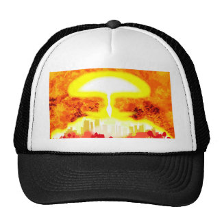 Atomic Bomb Heat Background Cap