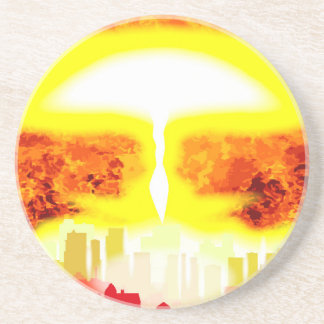 Atomic Bomb Heat Background Coaster