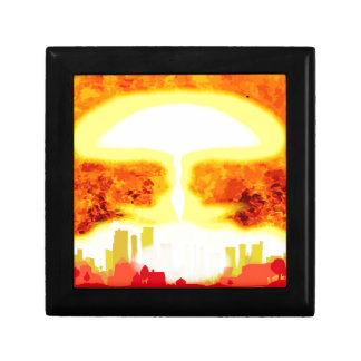 Atomic Bomb Heat Background Gift Box