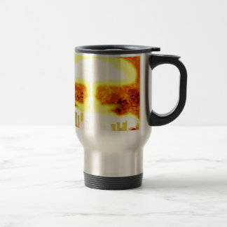 Atomic Bomb Heat Background Travel Mug