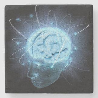 Atomic Brain Stone Beverage Coaster