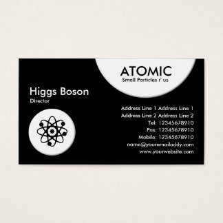 Atomic Circles - Black Business Card