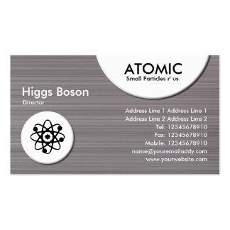 Atomic Circles - Brushed Metal II Texture Business Card Template